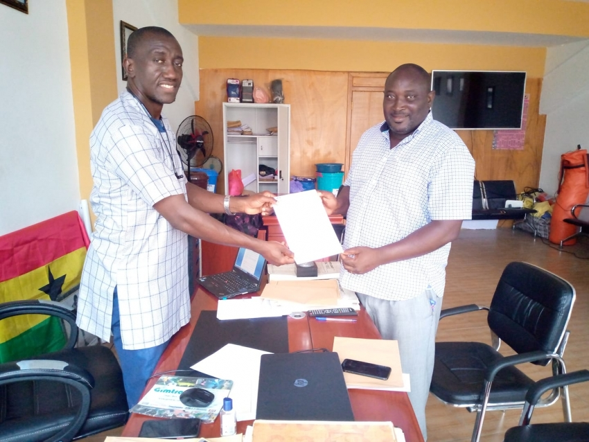 Coach Charles Quartey picks nomination forms to contest as GBA executive board member