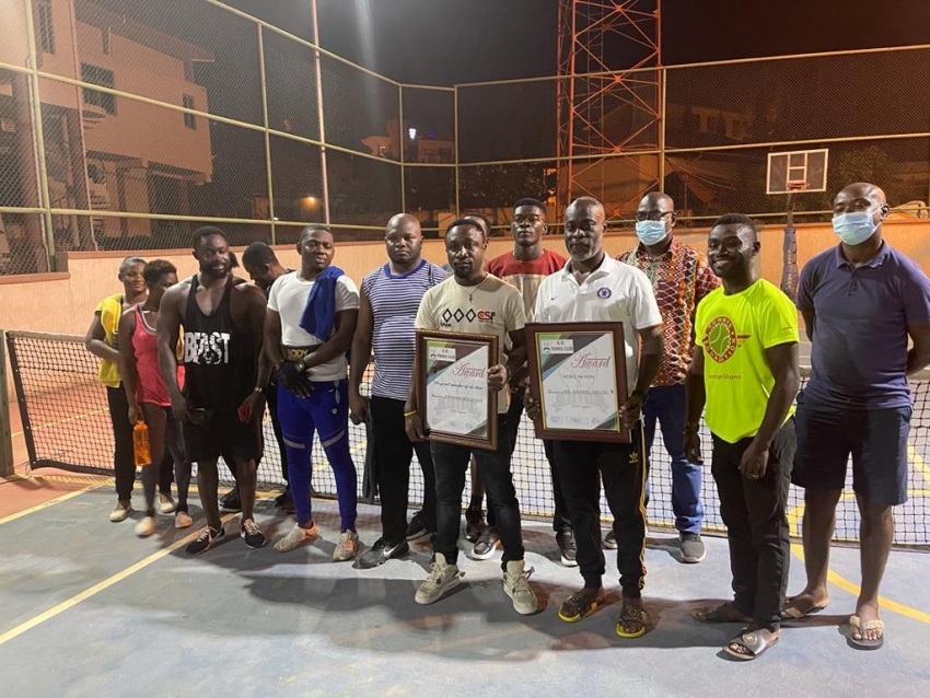 G.O. Tennis Club honors Maxwell Owusu as the new  Club Patron