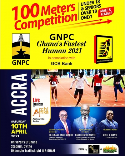 Ghana' Fastest Human Competition comes to Accra on Sat. April 10