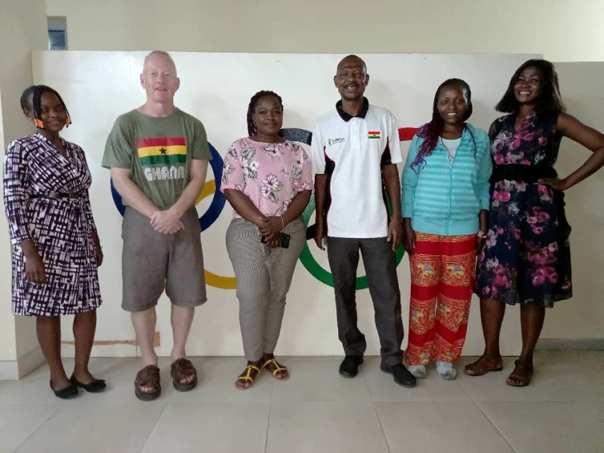 Dr. Andrew Carruthers visits Ghana Olympic Committee (GOC)