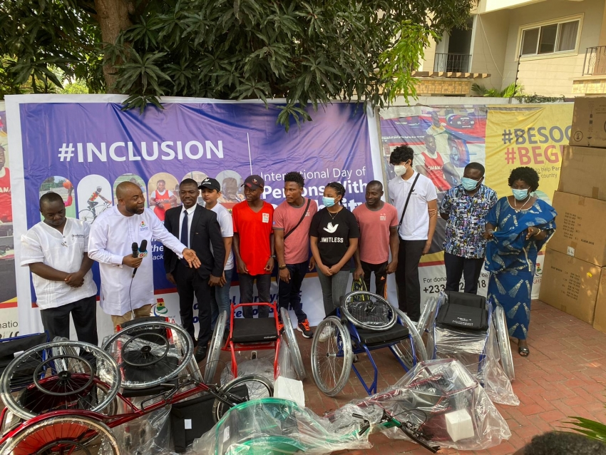 Ghana National Paralympic Committee Surprises Athletes With WheelChairs