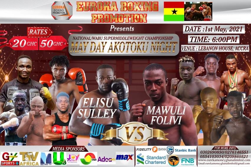 """Euroka Boxing Promotions Presents """"May Day Akotoku"""" at Lebanon House"""