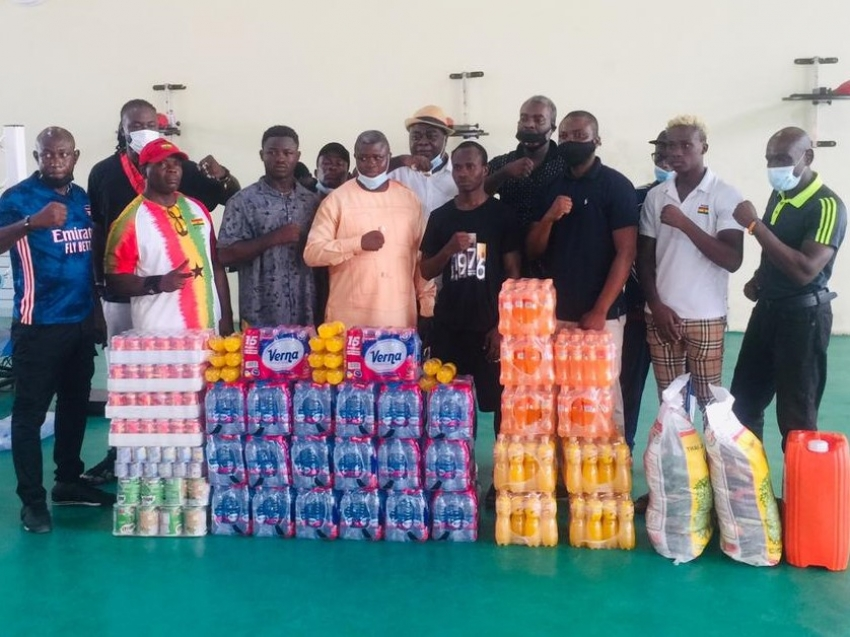 Bukom Boxing Ltd and Rocabella donate provisions to Black Bombers
