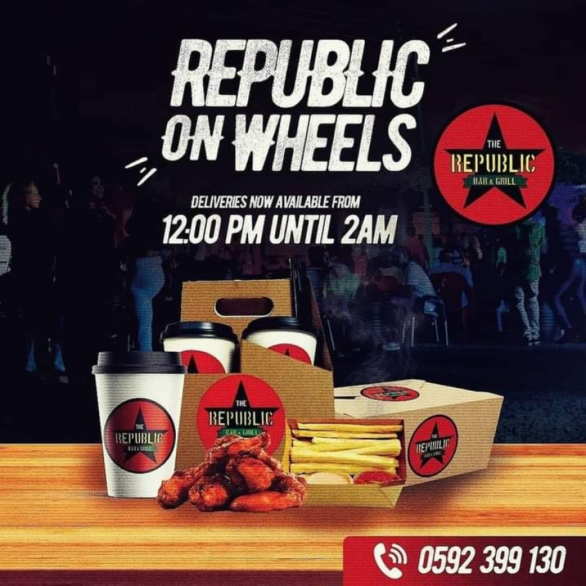 REPUBLIC BAR AND GRILL SPECIAL DELIVERY